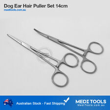 "2 x Pet Grooming Ear Hair Puller Set, Locking, Hemostat 5.5"", Dog, Tweezers"