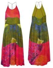 $345 Twenty8Twelve Viola Multi Color Print Sheer Overlay Midi Dress ~ 6 M3020