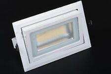 Faretto faro led  downlight rettangolare incasso staffa 230v vetrine orientab