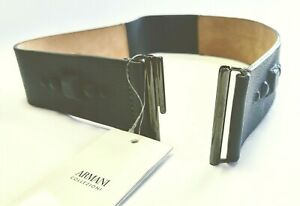 Armani collezioni Leather Belt Size 38 NEW Made in Italy 100% Original RRP 590$