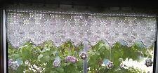 wunderschöne Häkelgardine - Blumen-Motiv - mit 3D-Blüten - ca. 96 cm - NEU!!!