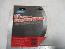 "NORTON 6"" All Purpose Grinding Wheel 1/2"" Thick 1"" Arbor Hole Med. Grit 88232"