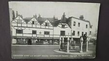 Coronation Stone and Ancient Houses, Kingston-On-Thames Real Photo Postcard