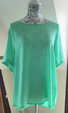 Bright Green Short Sleeved Blouse Size 18