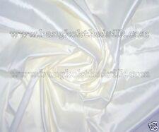 IVORY WHITE 100% PURE SILK FABRIC by Yard BRIDAL DRESS DRAPE SKIRT SHIRT CRAFT