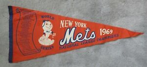 1969 New York Mets pennant NL Champs World Series obtained from Buddy Harrelson