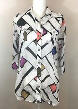 dde4bc6123 Diane Von Furstenberg DVF Soleil + Swim Sheer Cover Up Color Block Size P  Small