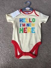Boots Mini Club Baby Bodysuit Rainbow Letters New Here Cute Gift 9-12 Months