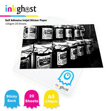 A4 High Gloss Self Adhesive Sticker Paper / 135gsm / 50 sheets / Inkjet Printers
