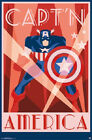 2014 MARVEL COMICS AVENGERS  CAPTAIN AMERICA ART DECO POSTER PRINT NEW 22x34