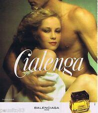 PUBLICITE ADVERTISING 095 1977 Balenciaga parfum 'Cialenga'