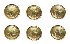 American Civil War Confederate Star Texas State Repro Large Jacket Buttons X 6