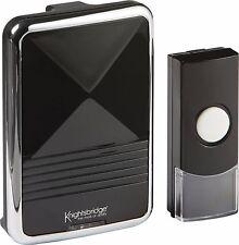 Knightsbridge Black Wireless 200m Range Door 36 Chime Bell Cordless Doorbell