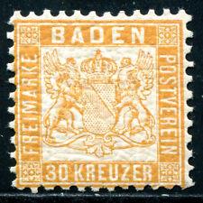BADEN 1862 22a ** POSTFRISCH RARITÄT gepr SEEGER BPP 600€(Z1038