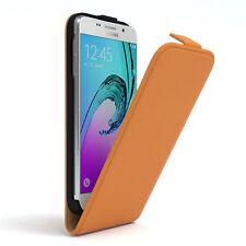 Tasche für Samsung Galaxy A3 (2016) Flip Case Schutz Hülle Cover Orange