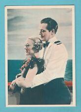 FILM STARS - GODFREY PHILLIPS - POSTCARD SIZED CARD - EILERS & STARRETT  -  1934