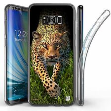 For Samsung Galaxy S8 Plus,Tri Max Transparent Full Body Case Cover WILD CAT