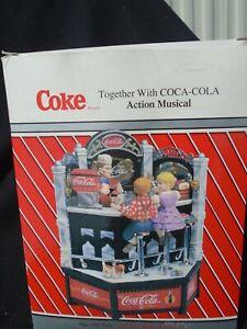 1995 Enesco Coca Cola Action Musical Soda Shop