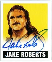 2012 LEAF ORIGINALS JAKE SNAKE ROBERTS YELLOW 73/99 WRESTLING AUTOGRAPH CARD WWE