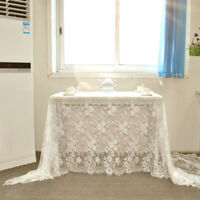 Lace Tablecloth Wedding Party Banquet Dinner Table Runner Cover Home Decor White