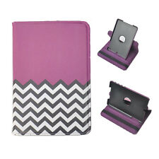 360 Rotating Leather Cover Case for iPad mini 1 2 3 Purple