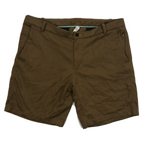 "Lululemon Mens Commission Shorts Size 38 8"" Inseam Brown"