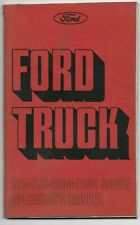 1975 FORD TRUCK 500 750 6000 7000 SERIES OWNERS MANUAL ORIGINAL