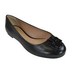 076ba5d5f44082 NIB Tory Burch LOWELL 2 Leather Ballet Flats in Black 6-9.5