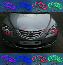 4x Cotton RGB LED Angel Eyes Halo Rings DRL For Mazda 3 First generation 2002-07