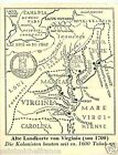 Carte Map of Virginia USA Plants TOBACCO HISTORY HISTOIRE TABAC IMAGE CARD 30s