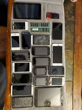 Lot Of Vintage Old Cell Phones And Tablets And A Garmin.