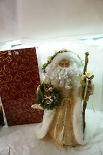 San Francisco Music Box Co Victorian Santa Gold Fabric Plush Father Christmas 18