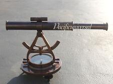 Vintage Maritime Alidate Telescope W/Compass Full Compass  Antique Astrolabe.