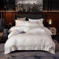 Luxury Silky Egyptian Cotton Duvet Cover Bed Sheet Set Bedding Set Cover Set