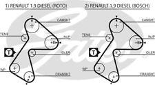 RENAULT CLIO + Van EXPRESS EXTRA 1.9 D 1991-98 CAMBELT Cinghia Di Distribuzione 5305XS