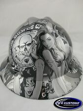 Silver Bad Boy Club Full Brim New Custom MSA V-Gard Hard Hat W/FasTrac Ratchet