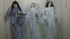 LOT OF 3 HANGING GOTHIC DOLLS/GIRLS PROPS. One animated. NEW. Retired.