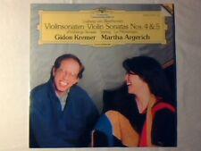 GIDON KREMER MARTHA ARGERICH Beethoven: violin sonatas 4 - 5 lp DGG LIKE NEW!!!
