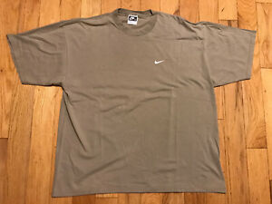 Nike Made in USA Vintage Shirt XL Light Earth Brown Swoosh Logo Since Early 70's