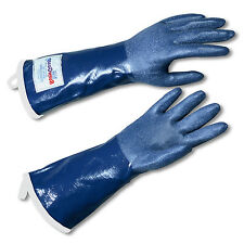 "SteamGlove Steamguard Cleaning Glove Blue 20"" Extended Cuff - Steam Protection"