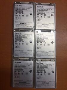 "6 pcs LOT SanDisk SDU5B-064G-000010 A-072 ""ES"" UATA 5000 1.8"" 3.3VDC"