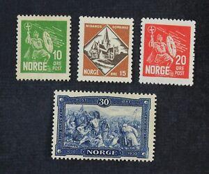 CKStamps: Norway Stamps Collection Scott#150 NG-153 Mint H OG
