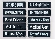 Reflective Attachable Removable Service Guard Dog Patches * In Training * Esa