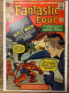 Fantastic Four #22/Silver Age Marvel Comic Book/2nd Mole Man/GD-VG