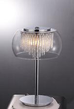 KLiving FAVARA cromato a 3 luci lampada da tavolo in vetro (led g9 Lampadine