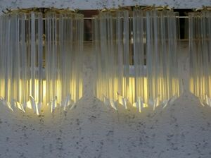 Rare XXL gilt  PALWA  sciolari  Sconces  crystal 60´s wall lamp
