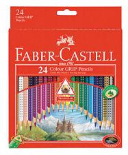 "Faber-Castell ""Dot Grip"" Triangular Colour Pencil Set - Choose Your Size 12 / 24"