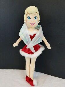 "16"" DISNEY CHRISTMAS TINKERBELL SANTA DRESS PLUSH DOLL TOY FAIRY Brand New."