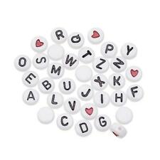 Darice Alpha Beads - 250pcs White