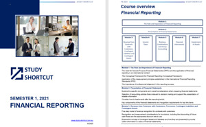 CPA Notes & Index - Financial Reporting FR (edition 5, 2021) - Study Shortcut